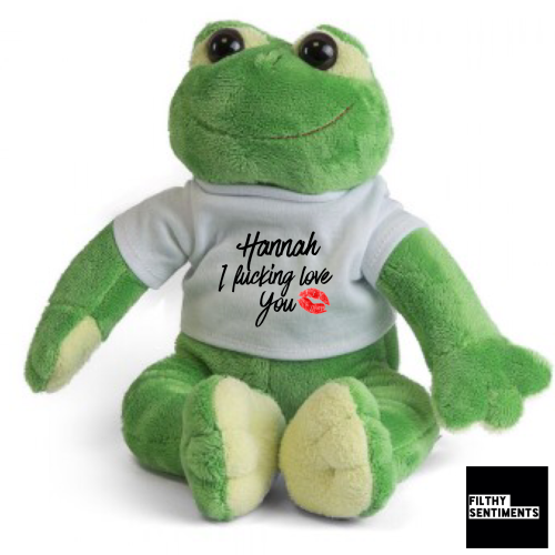 CUTE I FUCKING LOVE YOU PERSONALISED SOFT TOY