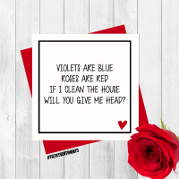 Roses are red funny card Per46/  G0076