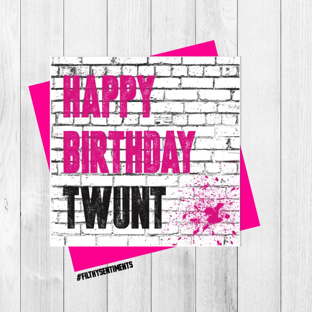 BIRTHDAY TWUNT CARD - FS305