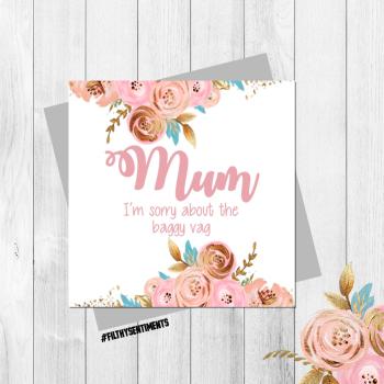 Baggy Vag Mum card - FS322 - B0077