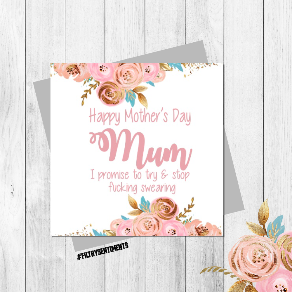 Swearing Mothers Day card - FS323