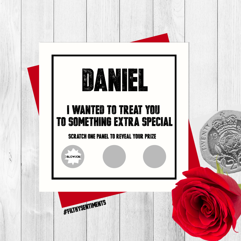 *NEW* PERSONALISED ROULETTE SCRATCH CARD