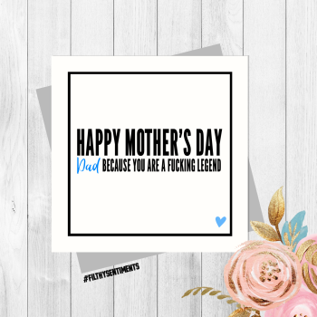 Dad Mother's Day card PER52