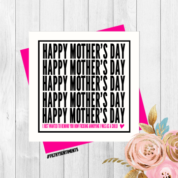 Annoying Mother's Day card - PER56