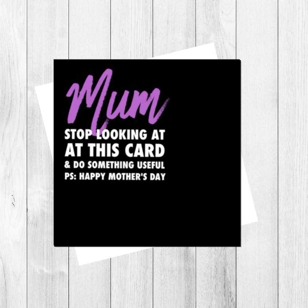 MUM DO SOMETHING USEFUL CARD - FS142