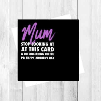 MUM DO SOMETHING USEFUL CARD - FS142 -H0007