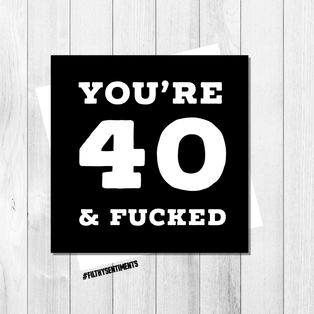 40th birthday card - FS239 - G0024