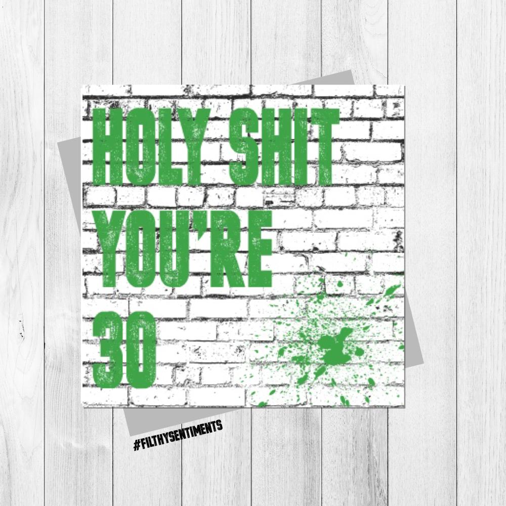 HOLY SHIT 30 CARD - FS317 - G0020