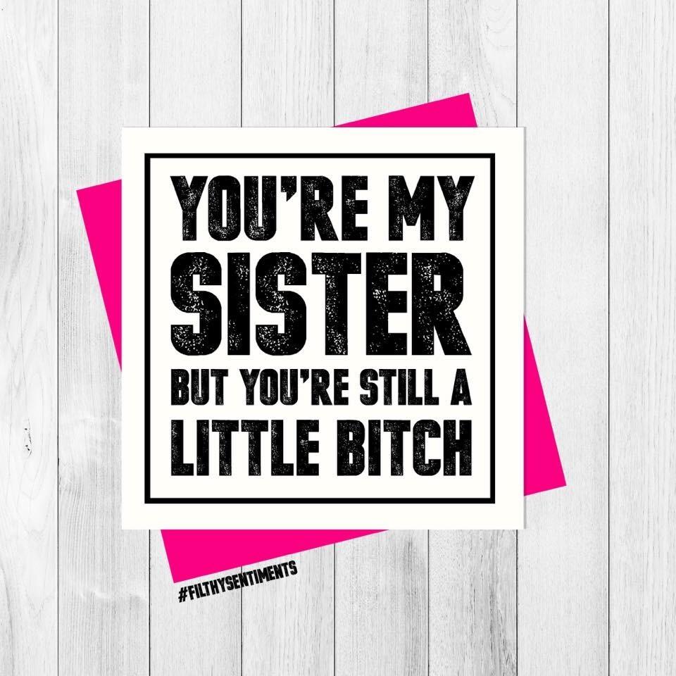 *NEW* SIBLING SISTER CARD - PER34