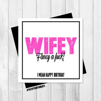 WIFEY CARD - PER62 /H0034