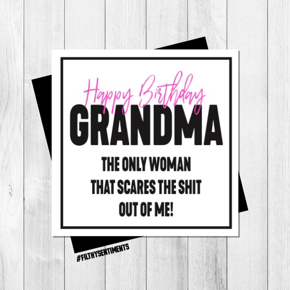 GRANDMA SCARY CARD - PER69