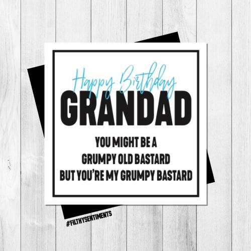 GRUMPY GRANDAD  CARD - PER70