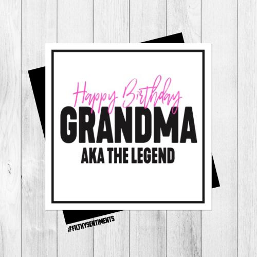 GRANDMA LEGEND CARD - PER68