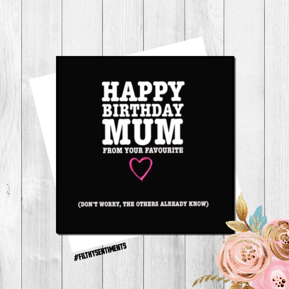 MUM, They all know birthday card -  FS178 - G0031