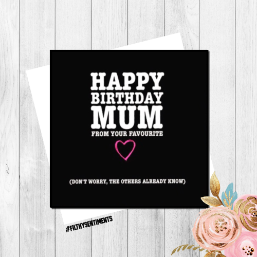 Funny Birthday Card Rude Cards Funny Cards Mum Birthday Card