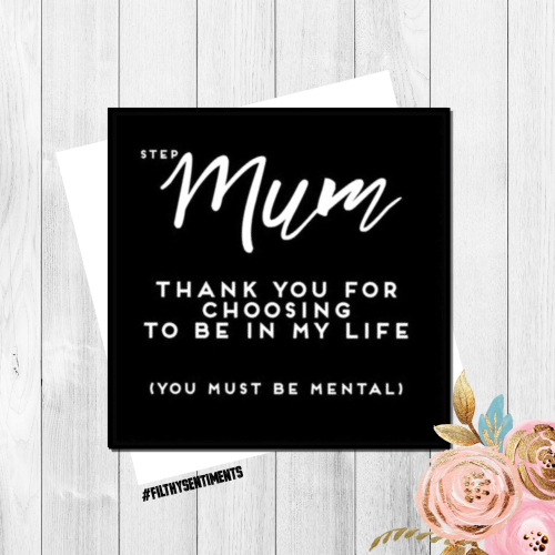 Step Mum thank you card FS150 - G0041