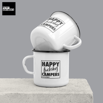 ENAMEL METAL MUG - HAPPY CAMPERS