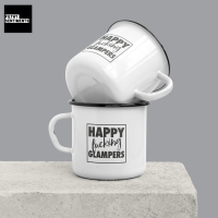 ENAMEL METAL MUG - HAPPY GLAMPER