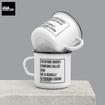 ENAMEL METAL MUG - DAD LEGEND