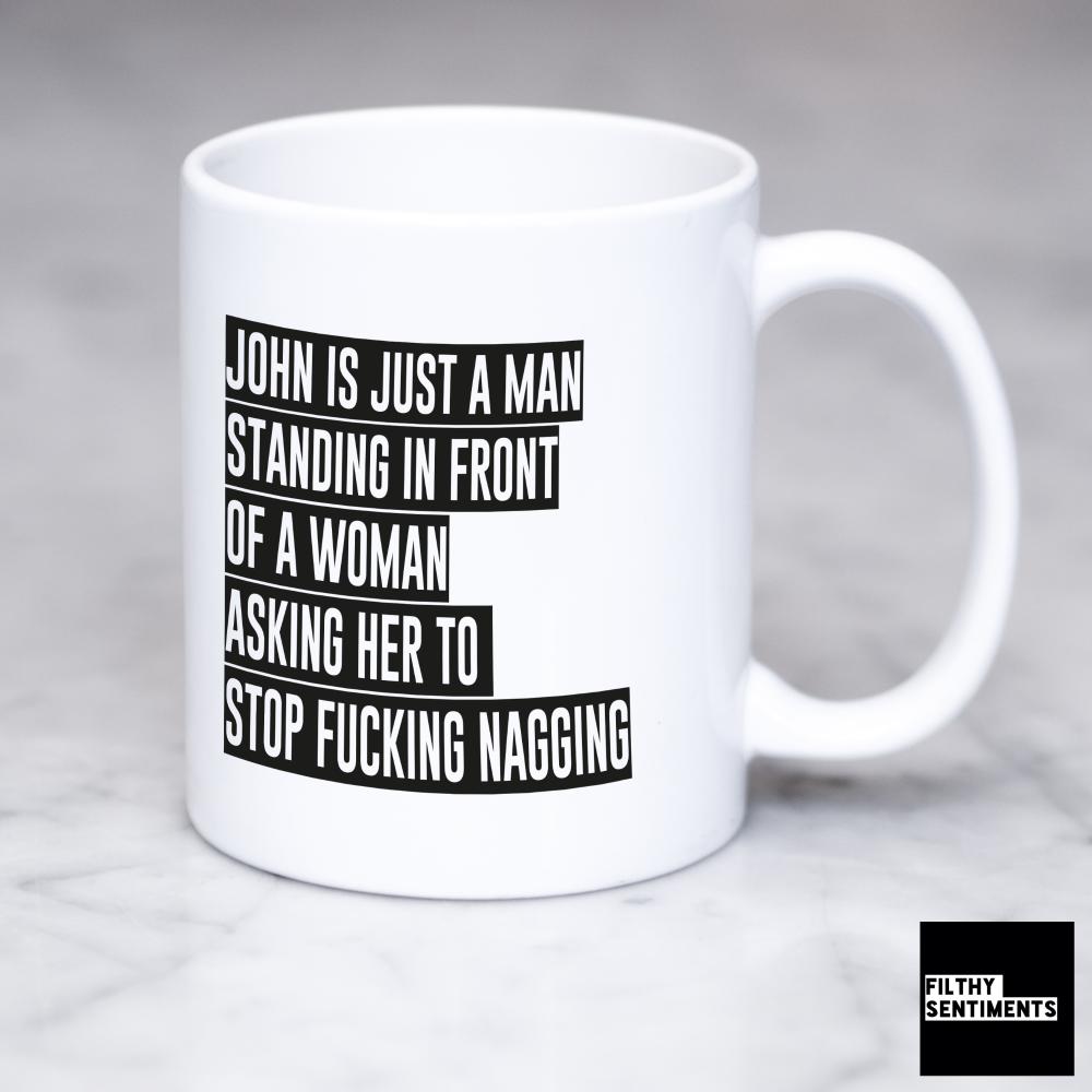 *Man Woman Personalised Mug 142*