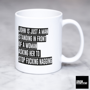 *Man Woman Personalised Mug 142*