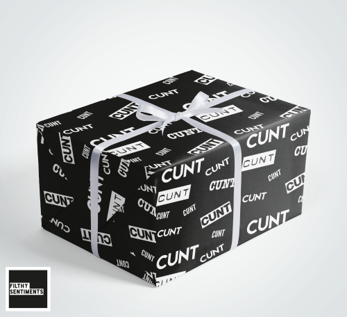Cunt wrapping paper & gift tags - Pack of 2 - C00035
