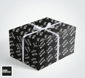 Birthday Bitch wrapping paper & gift tags - Pack of 2 - C00025