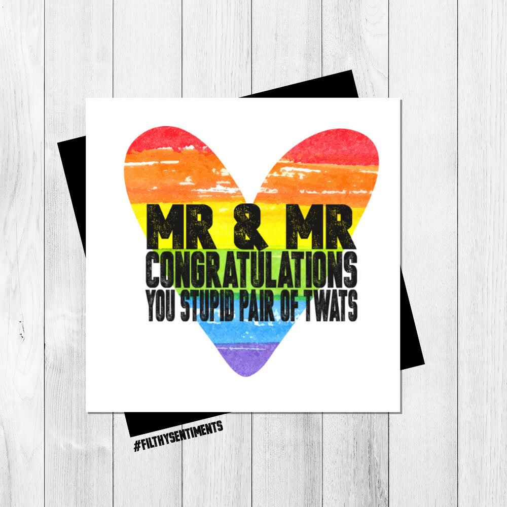 MR & MR RAINBOW HEART CARD - FS327