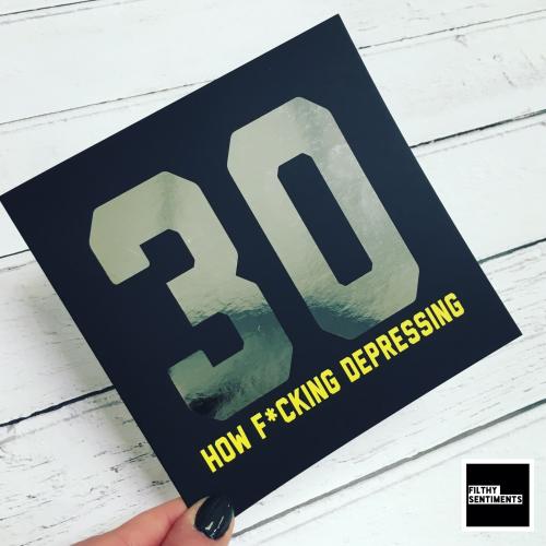 30 DEPRESSING FOIL CARD - FS819
