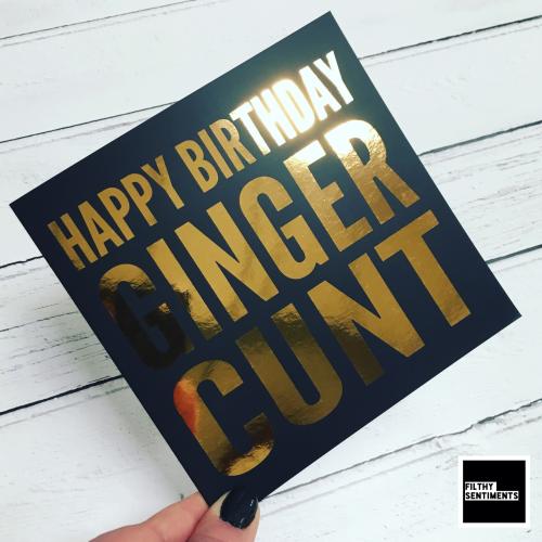 GINGER CUNT FOIL CARD - FS823