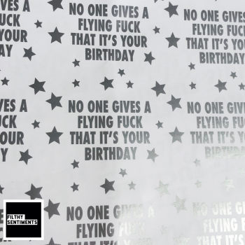 Flying Fuck Silver & White Wrapping Paper - D00046
