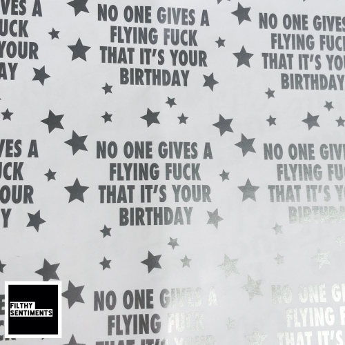 Flying Fuck Silver & White Wrapping Paper