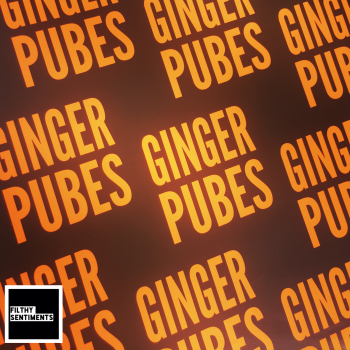 Ginger Pubes Neon Orange Wrapping Paper - D00040