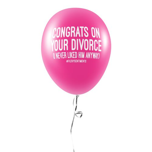 DIVORCE BALLOONS (Pack of 5) - C00026