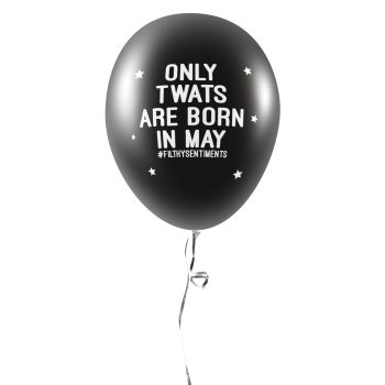 BORN IN MAY BALLOONS (Pack of 5) - E0034