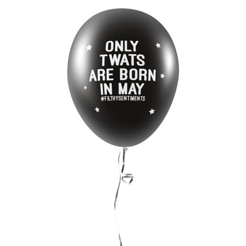 BORN IN MAY BALLOONS (Pack of 5) -