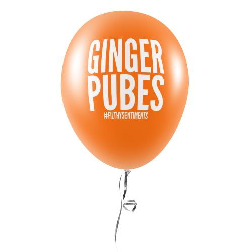 GINGER PUBES BALLOONS (Pack of 5) -