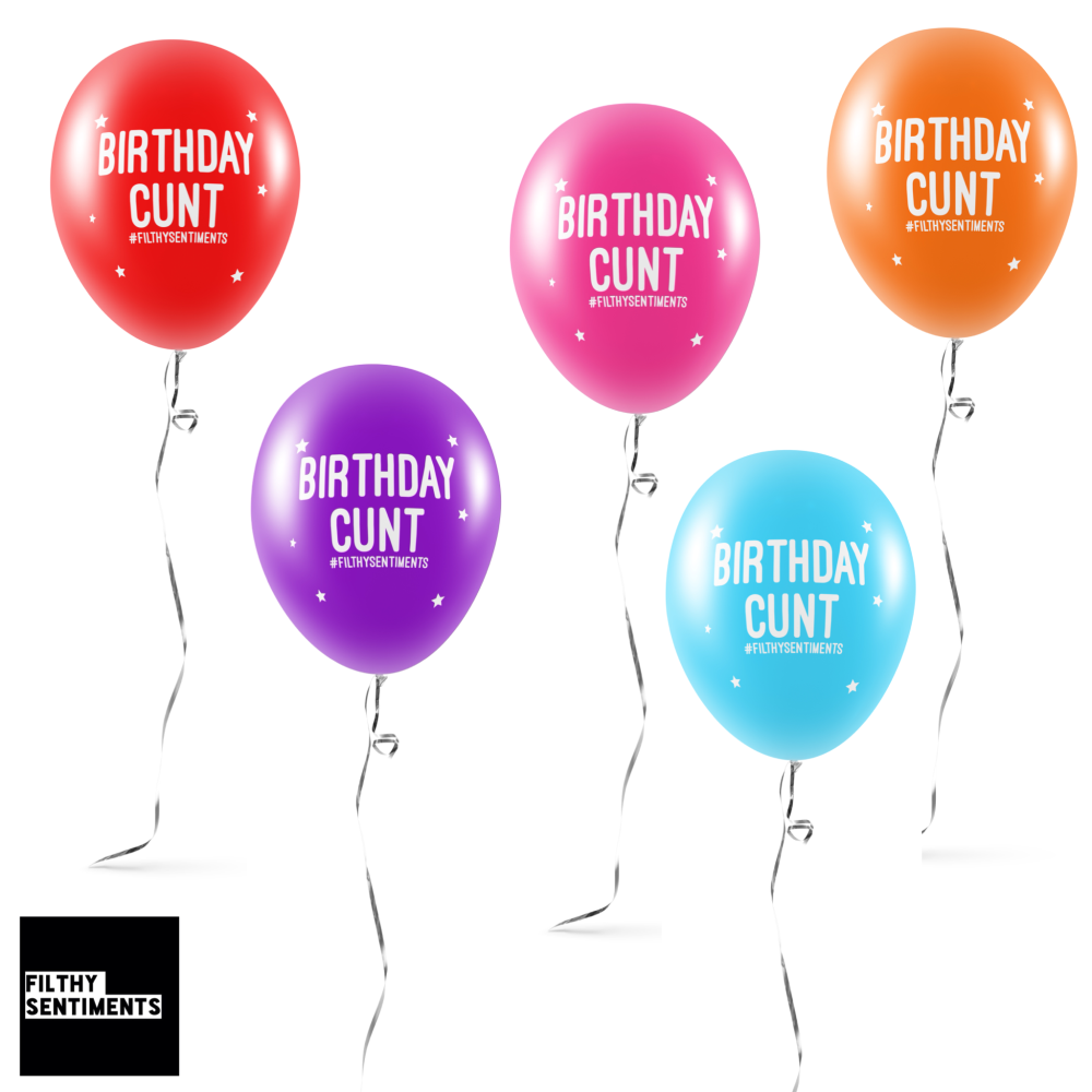 NEW BIRTHDAY CUNT BALLOONS (Pack of 5) - E0031