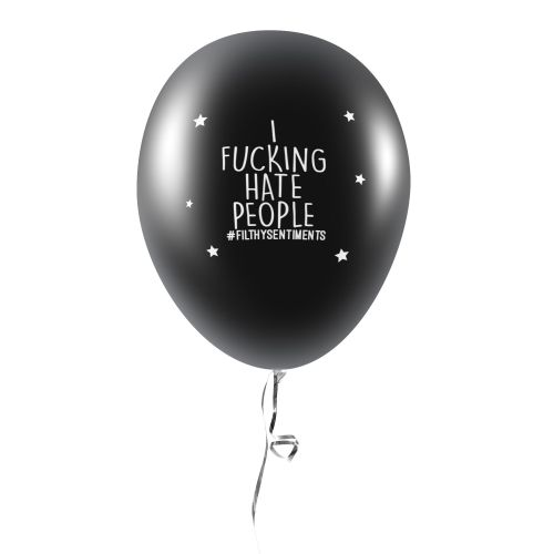 I FUCKING HATE PEOPLE BALLOONS (Pack of 5) -