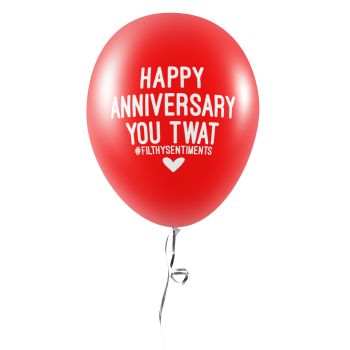 ANNIVERSARY TWAT BALLOONS (Pack of 5) - E0049
