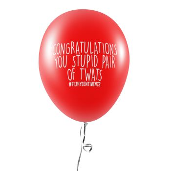 CONGRATULATIONS PAIR OF TWATS BALLOONS (Pack of 5) - C0031
