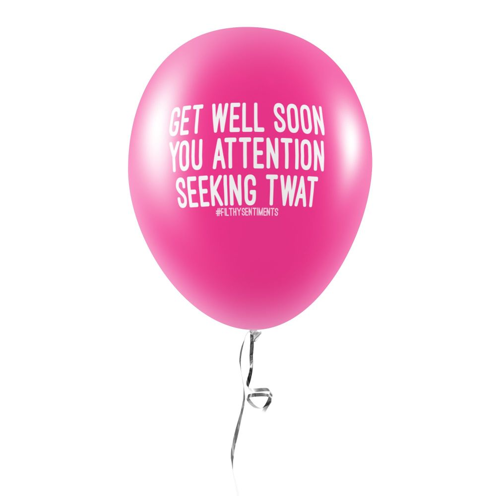 ATTENTION SEEKING TWAT BALLOONS (Pack of 5) -