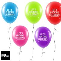 LET'S CELEBRATE BALLOONS (Pack of 5) - E0043