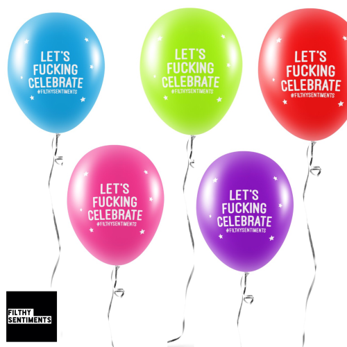 LET'S CELEBRATE BALLOONS (Pack of 5) -
