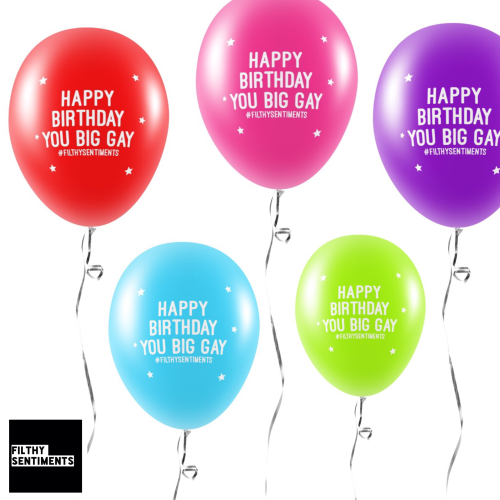 BIG GAY BALLOONS (Pack of 5) -
