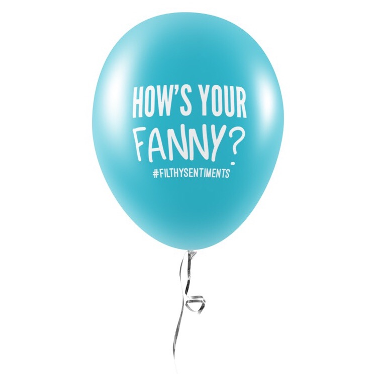 HOW'S YOUR FANNY? BALLOONS (Pack of 5) - E0041