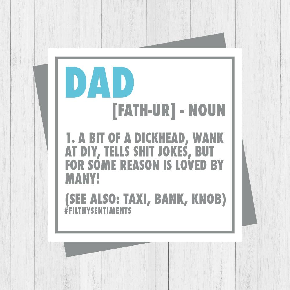 Dad NEW NOUN card  - PER83
