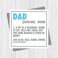 Dad NEW NOUN card  - PER83