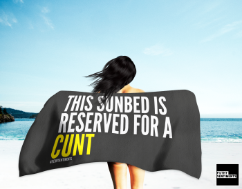 CUNT RESERVED TOWEL