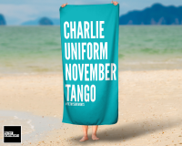 CHARLIE TURQUOISE TOWEL / K031